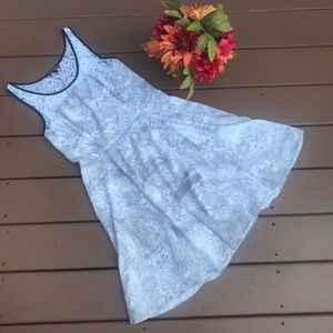 Express Gray Floral Lace Tank Top Dress Size 6